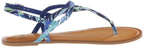Floral Flat Women's Blue Fergalicious Sunday Sandal wARaEqX