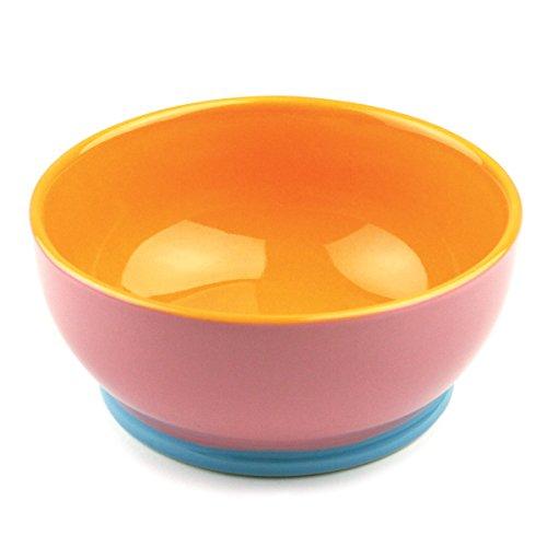 Hemisphere Mixing Bowl (Omniware 1100724 Hemisphere Footed Bowl, Pink/Orange)