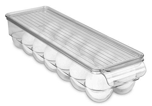 Refrigerator Egg Holder (Home Basics Stackable Egg Holder for Refrigerator, Clear)
