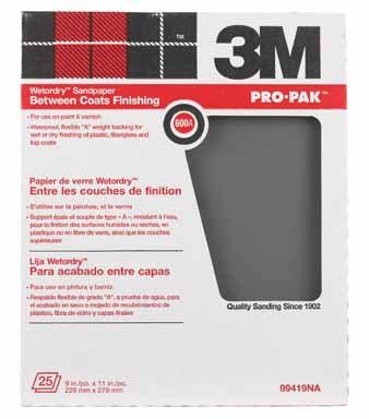 3m Wet Or Dry Tri-M-Ite Paper Sheets 600 A 9