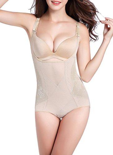 Women Seamless Firm Body Control Bodysuit Slimming Shapewear Thong Body Shaper