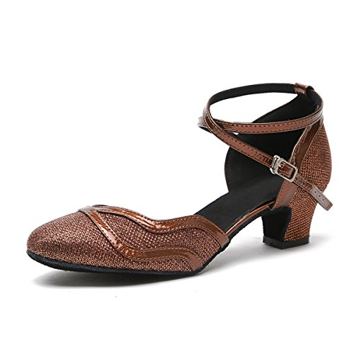 Heel de Salon Minitoo Femme Danse 5cm Bronze 5qxYwx6