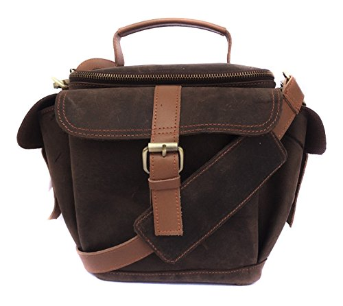 Genuine Leather Bag for Nikon D5200 24.1MP DSLR Camera  #MN_Antique