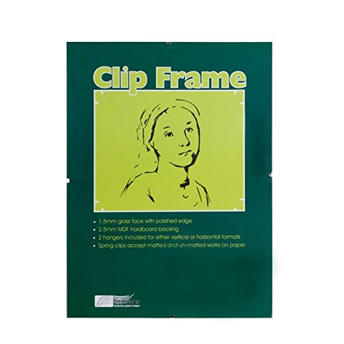 Ambiance Gallery Clip Frame Modern Low Profile Invisible Minimalist Picture Photo Gallery Frame, Includes Glass and Backing, Single - 8.5x11 ()