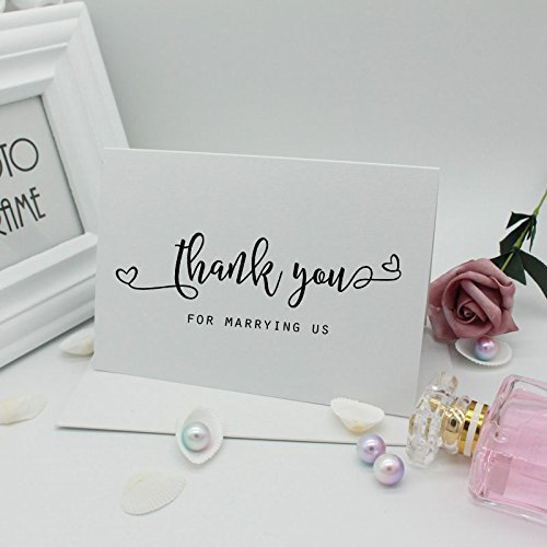 Amazon Com Thank You For Marrying Us Card Officiant Thank