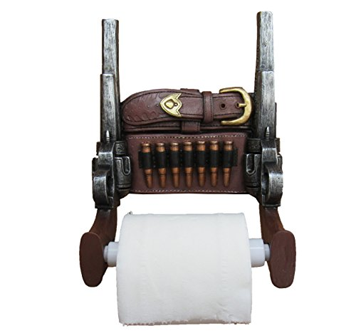 Wild West Six Shooter Double Pistols Toilet Paper Holder by DWK   Western  Gungliner Holster Home Decor and GiftsWestern Home Decor   Olivia Decor   decor for your home and office . Wild West Home Decor. Home Design Ideas