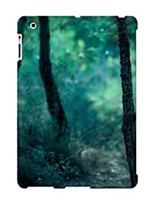 Design For Ipad 2/3/4 Premium Tpu Case Cover Dark Forest Protective Case