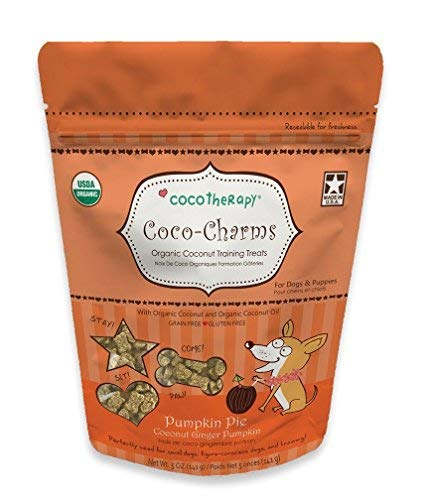 Cocotherapy Coco-Charms Training Treats - Pumpkin Pie, (1 Pouch), 5 Oz.
