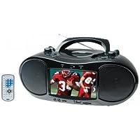 Naxa NDL-257 7 TFT LCD Display DVD Player TV Tuner Radio Black