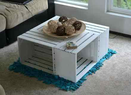 Urbanmantra Square Coffee Table With Wheels Casters Coffee Table