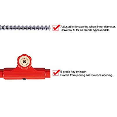 CARTMAN Anti-Theft Steering Wheel Lock to Brake Pedal Adjustablelock: Automotive