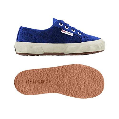 Superga 2750- SUEBINJ S004Z10 - Zapatillas de ante para niños Intense Blue