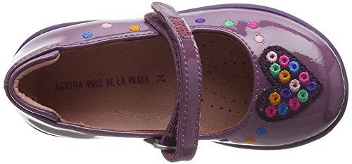 Agatha Ruiz De La Prada Mädchen 171925c Mary Jane Halbschuhe Purple (Morado)