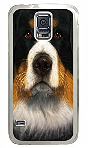Transparent Fashion Case for Samsung Galaxy S5 Generation Plastic Case Cover for Samsung Galaxy S5 with Cute Dog