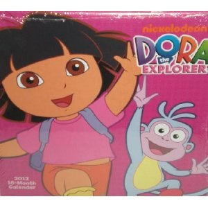 Amazon.com : Dora the Explorer 2012, 16 Month Calendar ...