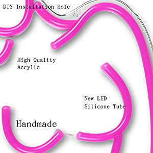 Girls Neon Sign Lights Art Wall Decorative Lights Pink