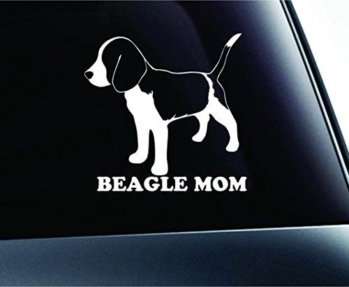 Beagle Mom Dog Symbol Decal Funny Car Truck - Beagle Sticker For Car