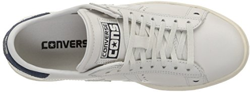 Converse Pro Leather Lp Ox, Herren Sneakers Weiß (White Dust/dress Blue/snow Whi)