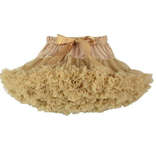 Kahki Princesse 40cm Jupe 16in Petticoat Fluffy FOLOBE Pettiskirts Bouffe Tutu Femmes Mesh AtxPqTw