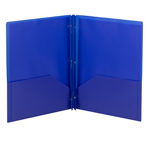 Smead Poly Two-Pocket Folder, Tang-style Fastener, Holds ...