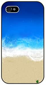 iPhone 4 / 4s Beach waves, aerial view - black plastic case / Nature, Animals, Places Series