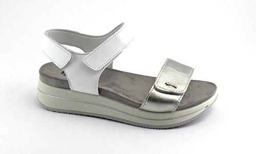 IGI&Co 1172400 Weißen Schuhe zwingen Ledersandale Reißen Bianco