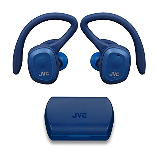JVC HA-ET45TA Truly Wireless Sport Headphones, Dual Ear Support with Detachable Hook, 14H Total Battery Life with…