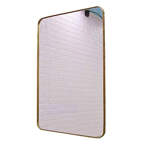 SSHHI Rectangle Stainless Steel Fram Bathroom Mirror, European Style Fashion Vanity Mirror, -