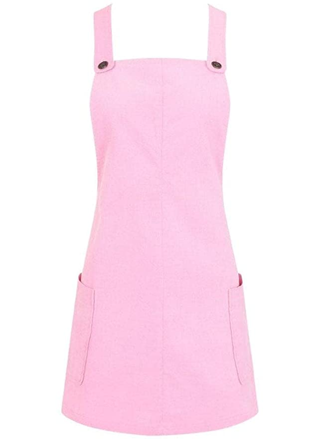 Vintage Inspired Halloween Costumes Collectif Clothing Lena Pink Cord Dress £35.99 AT vintagedancer.com