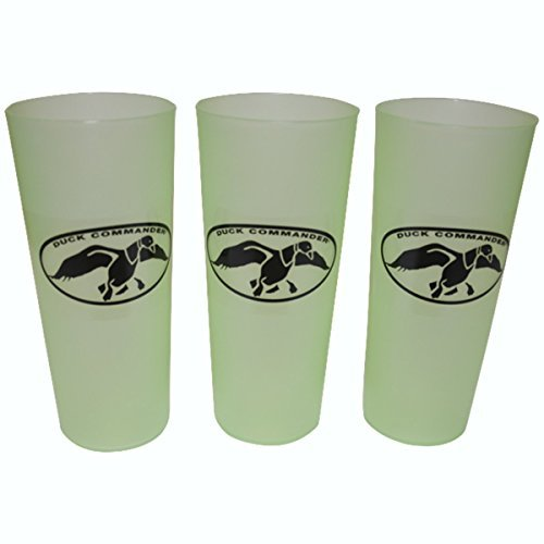 Duck Commander Duck Dynasty Tea Cups 16 Ounce Green Drinkware (Pack of 3)