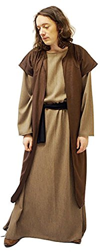 CL COSTUMES Nativity-Bible- Disciple/Jesus Tunic & Waistcoat Child's Fancy Dress – All Ages (Teen) ()