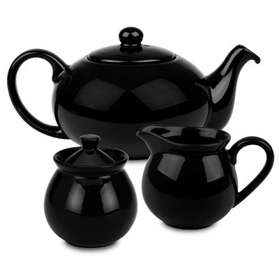Waechtersbach Fun Factory Tea Set, Black (Waechtersbach Sugar Dish)