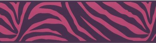 Brewster 443B90547 Pink Zebra Border, Pink
