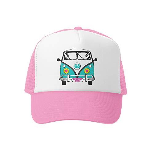 Grom Squad Kids Trucker Hat - Mesh Adjustable Baseball Cap for Boys & Girls - Baby, Infant, Toddler, School-Age Sizes (5-10yrs (Super), Busin Daisy ()