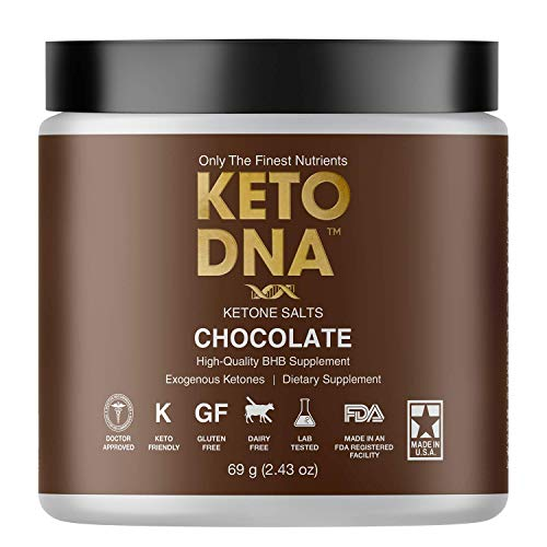 Keto DNA Chocolate Exogenous Ketone Supplement | 5 Serving BHB Salts for Ketosis | Beta Hydroxybutyrate Ketones Powder | Perfect to Burn Fat and Increase Energy & Focus | 69g Small