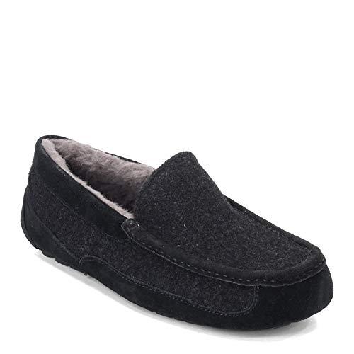 UGG Mens Ascot Wool Slipper, Black TNL, Size 11 (Ugg Ascot Slippers Mens)