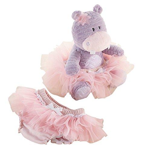 Baby Aspen Plush Hippo Purple