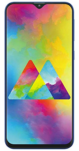 Samsung Galaxy M20 (32GB, 3GB) 6.3″ Infinity V-Display, Dual Camera, 5000mAh Extended Battery, Dual SIM GSM Factory Unlocked, US + Global 4G LTE International Model – M205M/DS (Blue, 32GB)