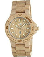 Wewood Mens Date Beige Wooden Watch