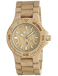 Wewood Men's Date DATE-BEIGE Beige Wood Analog Quartz Watch with Beige Dial
