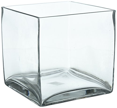 Vase Square 8 (CYS Cube Glass Vase. H-8