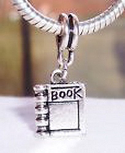 - Glamorise Beads #14412 Book Reader Read Journal Novel Dangle Bead for Silver European Charm Bracelets