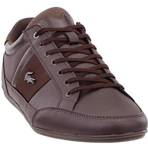 Lacoste Men's Chaymon Sneaker Dark Brown, 11 Medium US