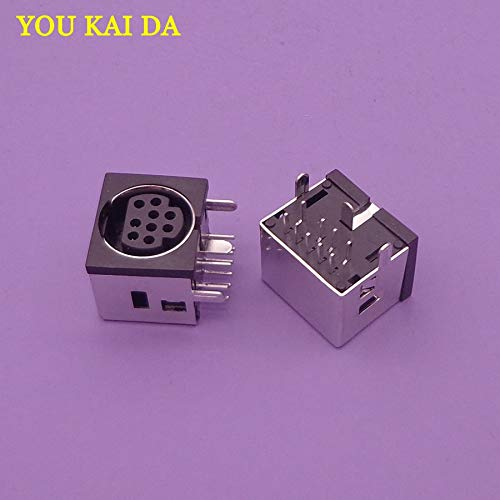 (Gimax 2-50pcs/lot MD Housing Female DIN 9 Mini Pin S-video Adapter Socket Mini DIN Port Connector - (Package:)