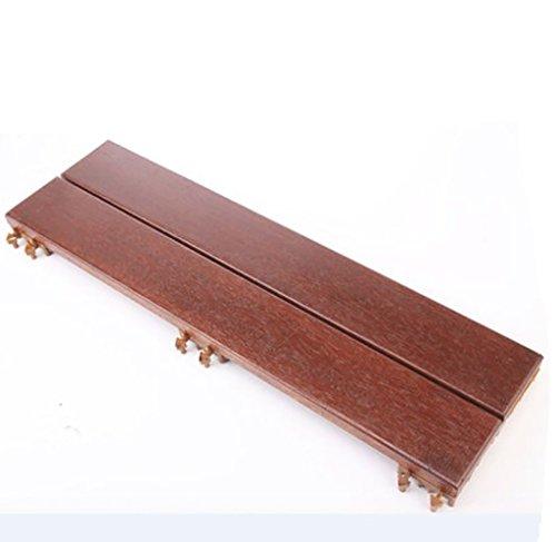 Flooring Wooden floor, outdoor patio garden Terrace anticorrosive solid wood DIY floor, indoor balcony Bathroom wooden anti-skid mosaic floor, solid wood self-pelling square floor size: 9019.53.8cm