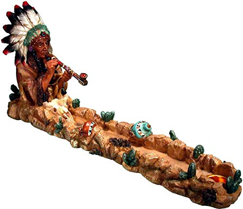 Nose Desserts Peace Pipe Smoking Great Indian Chief, Stick and Cone Incense Ashcatcher Burner Brand