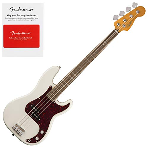 Squier 0374510505 Classic Vibe 60s Precision Bass, Laurel Fingerboard, Olympic W