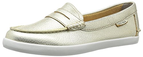 Cole Haan Women's Pinch Weekender Penny Loafer, Soft Gold/Metallic, 8.5 B US (Cole Loafers Womens Haan Shoes)