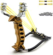 Slingshot Catapult Professional Hunting Slingshot with 2 Elastic Bands and 200 Pcs Ammo Balls for Adults Kids