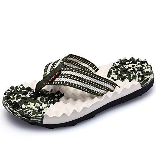 Plates Camouflage Chaussures De Massage Magiyard La Plage Hommes Casual Vert Pantoufles Mode nIYBqAT